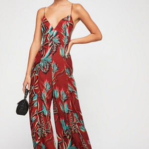 NWOT Free People Alissa Printed Jumpsuit